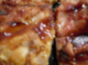 Barbecued chicken for sushi. Weird? Yeah, I know. Nick really likes it.