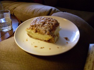 This is a crumb bun. Tasty!