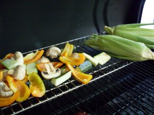 Veggies on grill