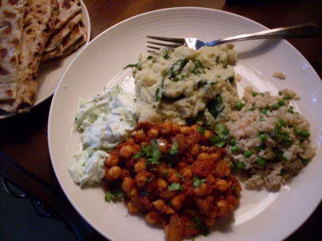 A quasi-Indian feast.