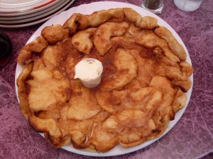 The Giant Apple Pancake: A close-up.
