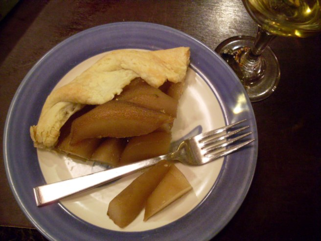 Pie, sliced.
