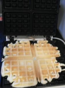 Waffling.