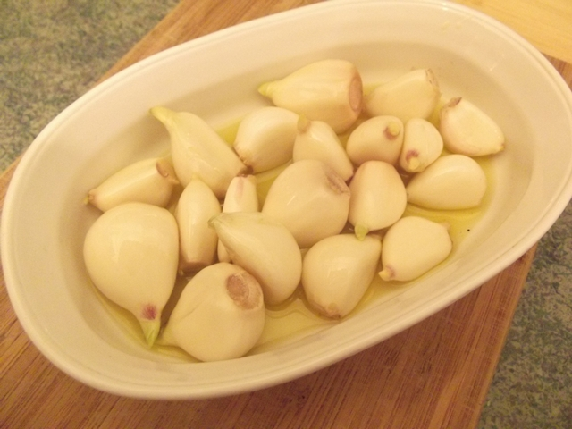 Raw garlic.