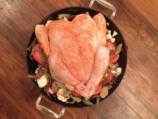 Chicken, pre-oven