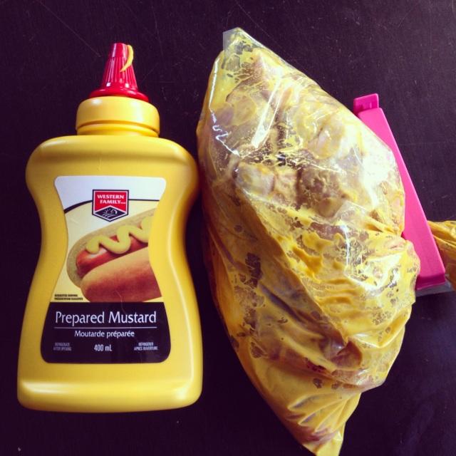 Mustard, chicken
