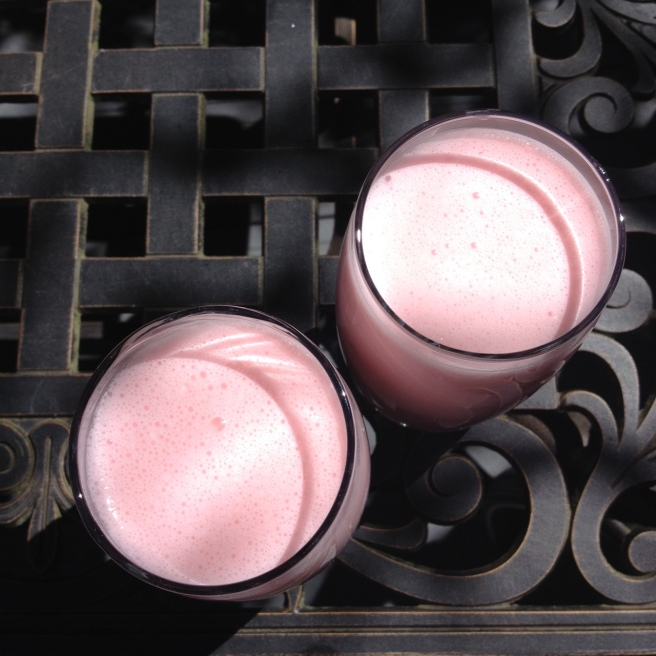 Pinky drinks.